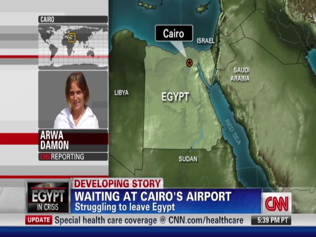 Tourists navigate Egyptian chaos
