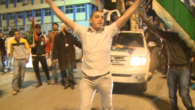 Opposition: Violence rages despite Libyan claim of cease-fire Damon.benghazi.celebrations.cnn.640x360