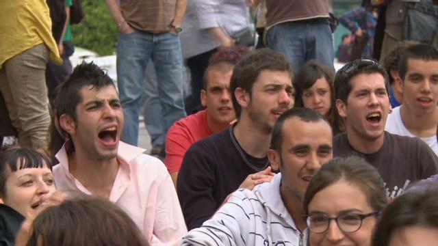 Los jóvenes españoles se rebelan contra la política y el desempleo