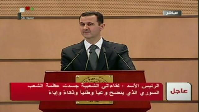 El presidente de Siria mezcla amenazas y promesas en un discurso al país