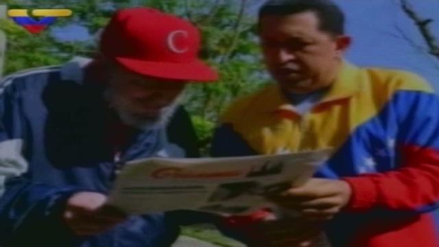 Cuba transmite un nuevo video de Chávez con Fidel Castro