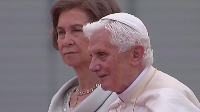 Benedicto XVI llega a Madrid para la Jornada Mundial de la Juventud