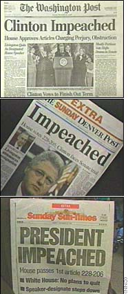Newspapers Slam Everybody Over Clinton Impeachment December 20 1998