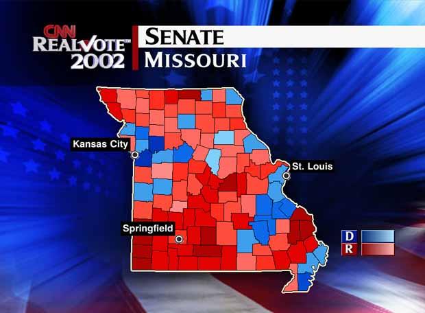 Cnn Com Election 2002 Spatialogic Map Missouri Senate
