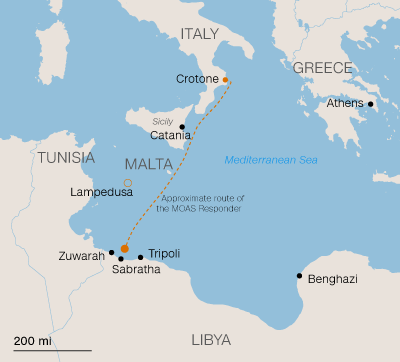 Libya To Italy Map.These Crossings Are Nothing But Fatal The Tale Of One Rescuer And