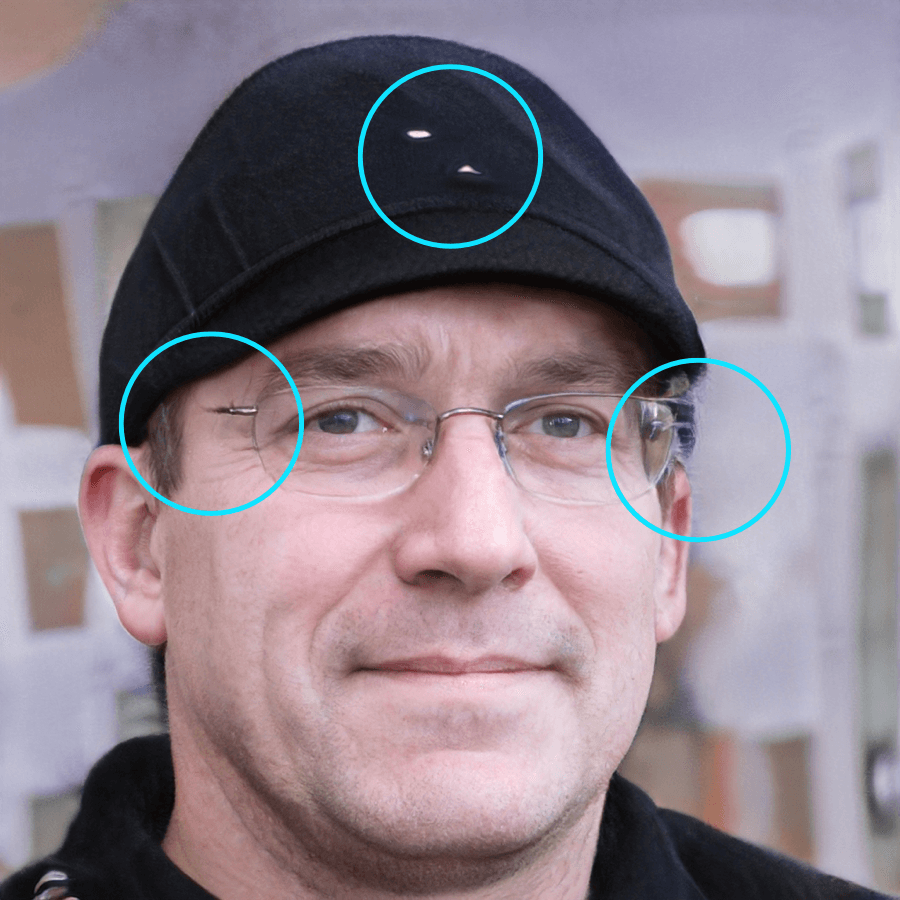 Examine accessories like eyeglasses and jewelry