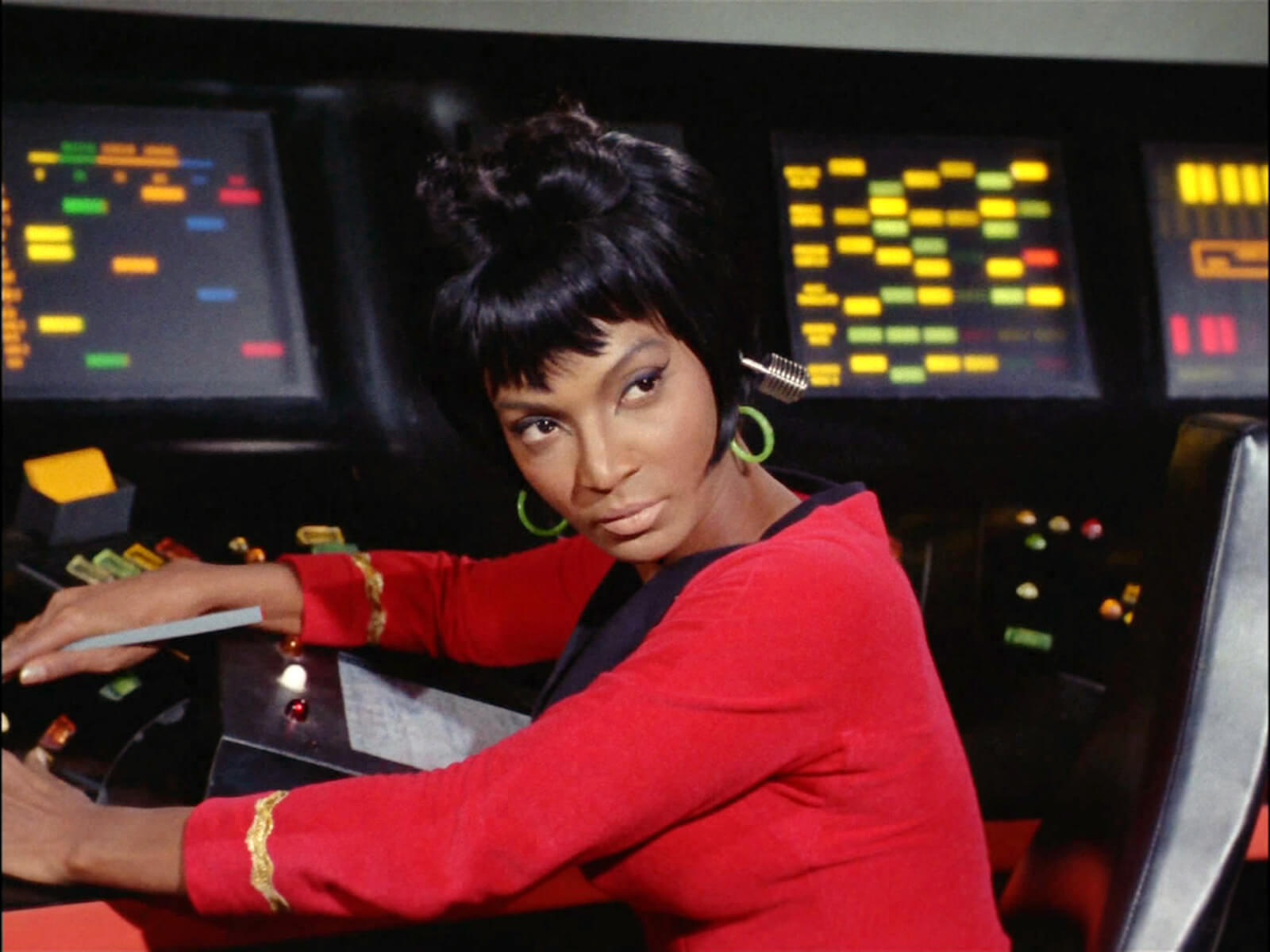 "Pictured is Nichols as Lt. Uhura in the ""Star Trek: The Original Series"" episode"