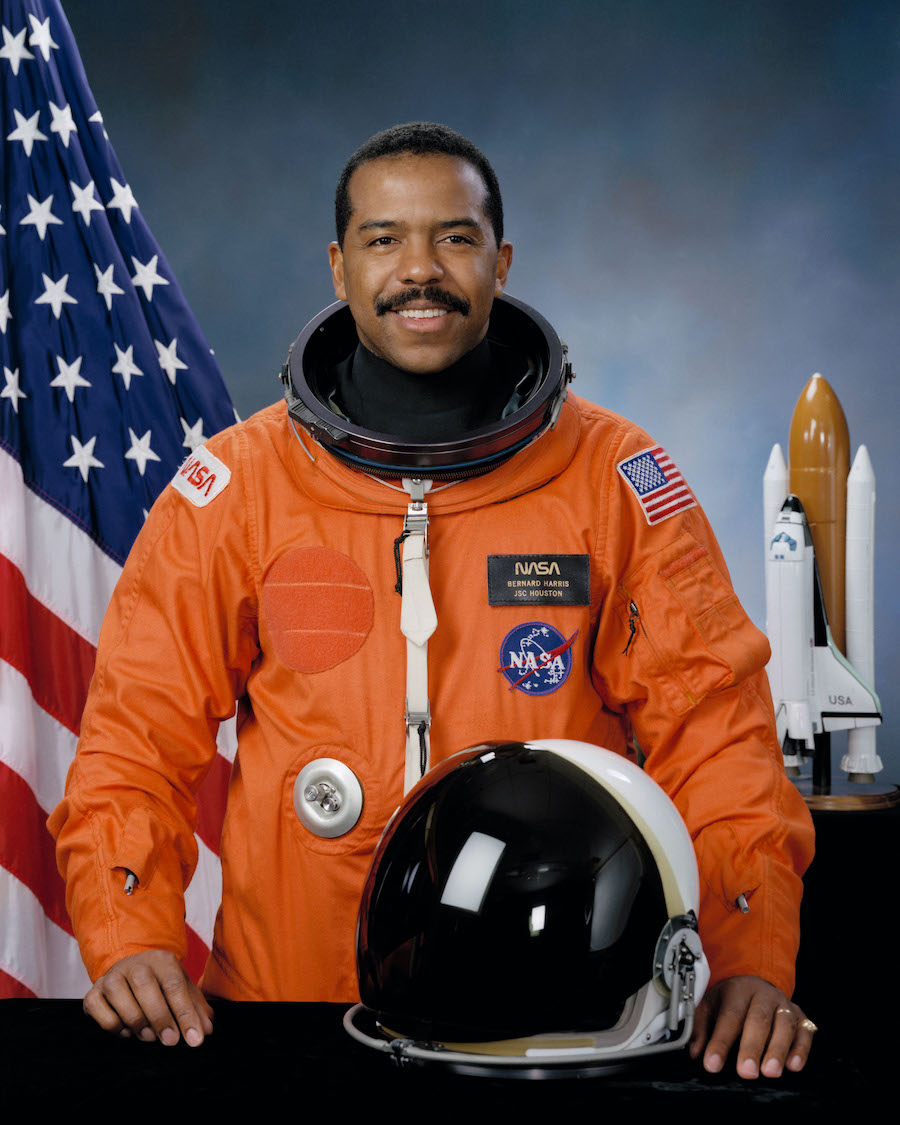 Try, try again: Harris' acceptance into NASA's 1990 astronaut class was the result of his second time applying.