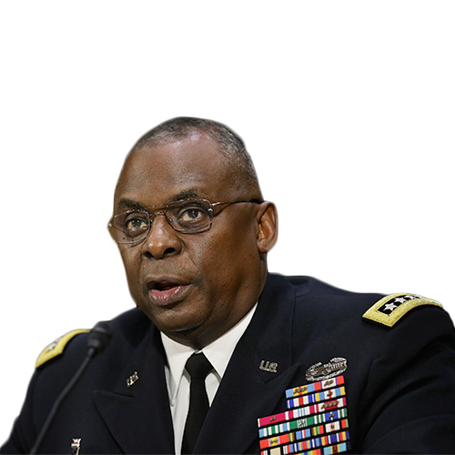 A photo of Gen. Lloyd Austin from the shoulders up.