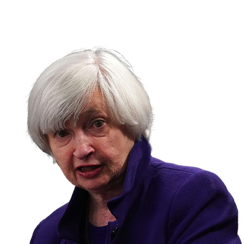 A photo of Janet Yellen from the shoulders up.
