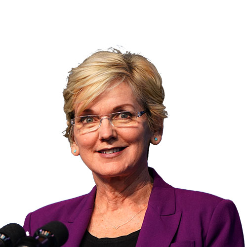 A photo of Jennifer Granholm from the shoulders up.