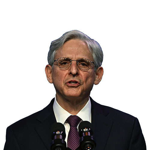 A photo of Merrick Garland from the shoulders up.
