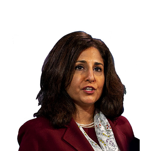 A photo of Neera Tanden from shoulders up.